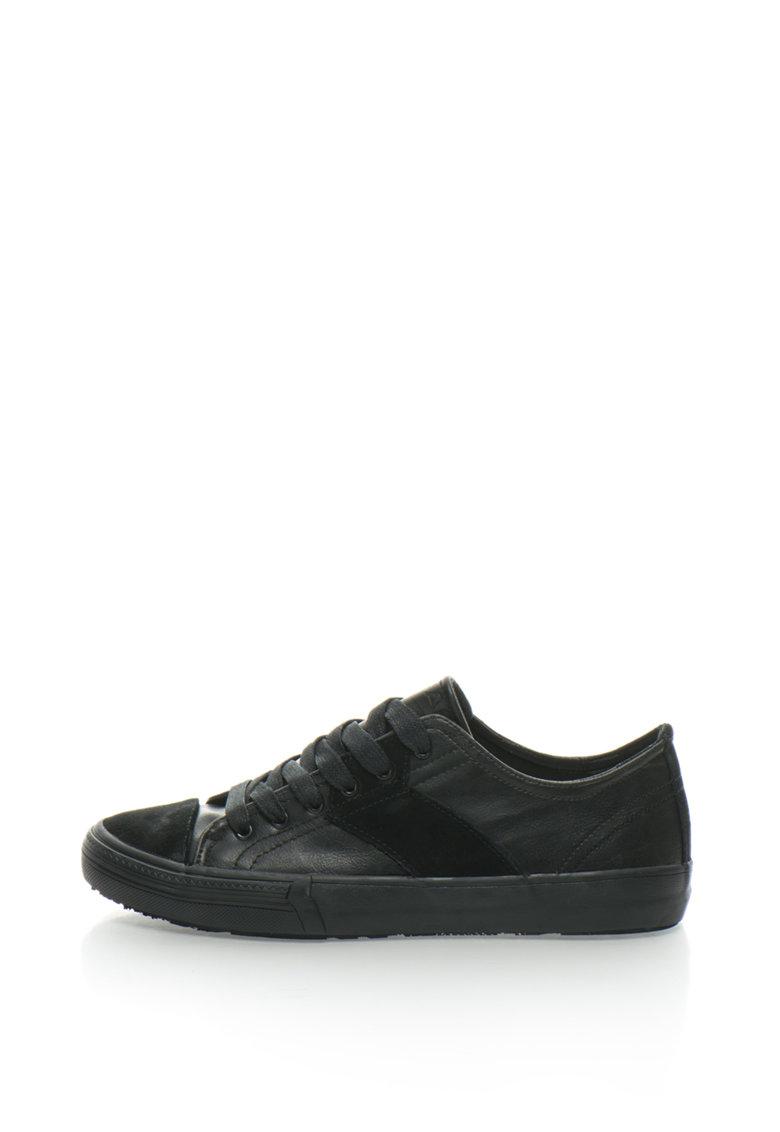 GAS Pantofi sport cu garnituri de piele intoarsa Lin