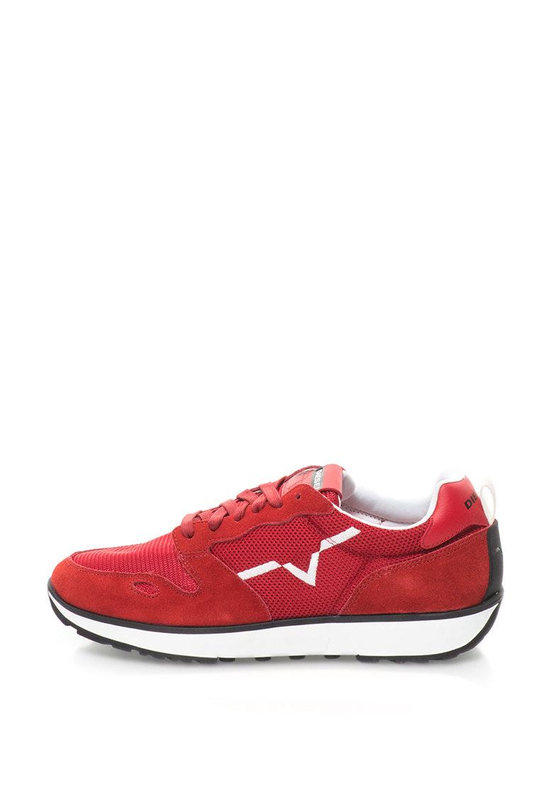 Diesel Pantofi sport cu garnituri de piele intoarsa  Rv