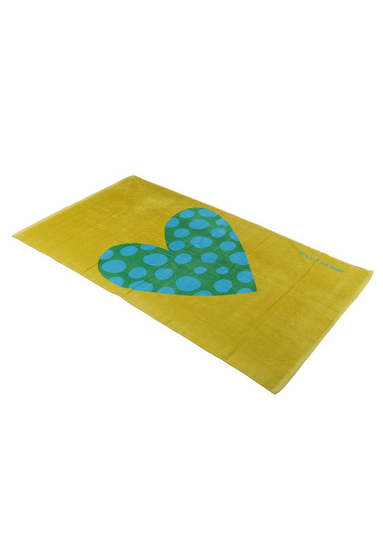 Prosop din material terry - bumbac - 90x160 cm - verde thumbnail