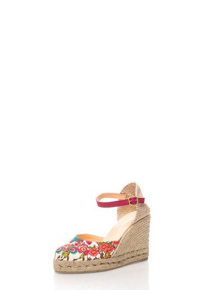FashionDays.ro: Sandale wedge cu imprimeu floral Verano Desigual