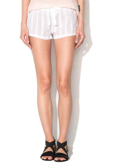 Pantaloni scurti albi de casa texturati de la Emporio Armani