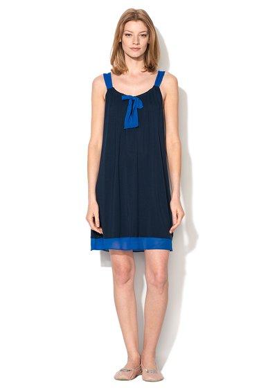 Rochie bleumarin cu garnituri albastre City Socialite