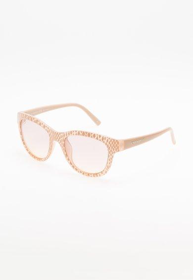 Ochelari de soare bej cu model reptila de la Emilio Pucci