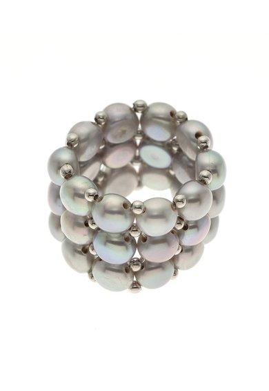 Perles Addict Inel ajustabil cu trei siraguri de perle