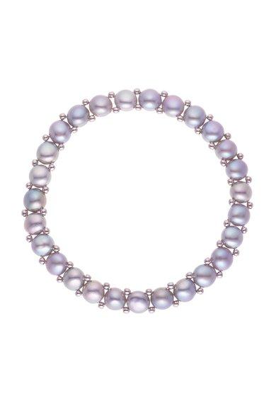Bratara ajustabila din perle gri argintiu