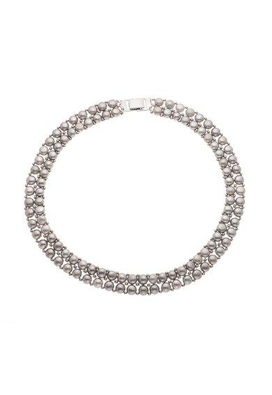Perles Addict Colier din doua siraguri de perle gri