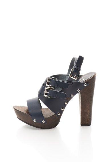 Versace 19.69 Abbigliamento Sportivo Sandale bleumarin din piele cu catarame Soave