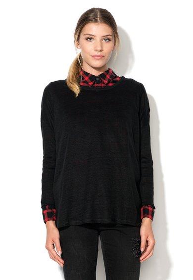 Bluza semitransparenta neagra din in Pamie de la Eleven Paris