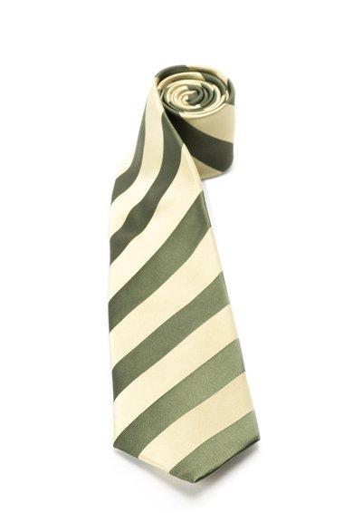 FashionDays.ro: Cravata verde din matase in dungi Vincenzo Boretti