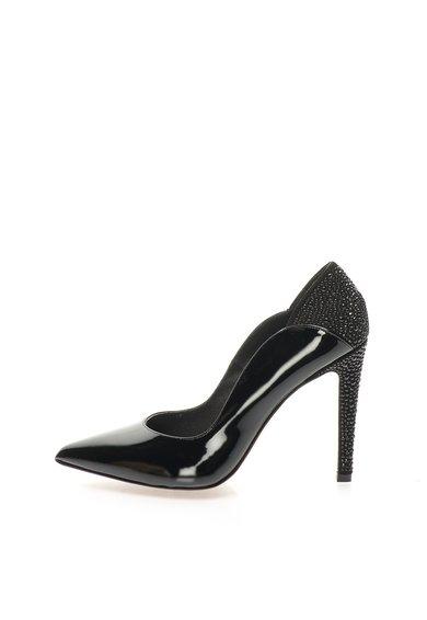 Pantofi negri din piele cu toc stiletto Charol