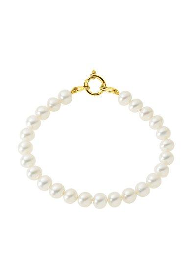 Bratara alba cu perle de la Perles Addict