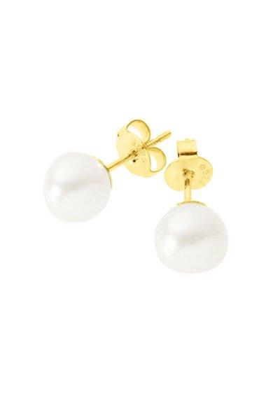 Cercei cu perle albe