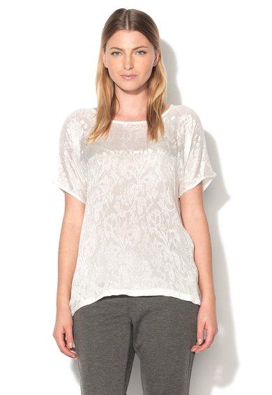 Tricou alb cu model floral delicat Baggu de la ICHI