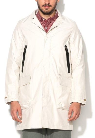 Jacheta regular fit alb fildes impermeabila