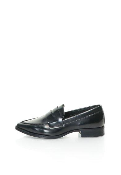 Pantofi loafer negri cu varf ascutit Lindie