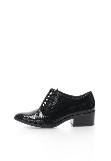 Pantofi negri din piele de sarpe Thea Rachel Zoe