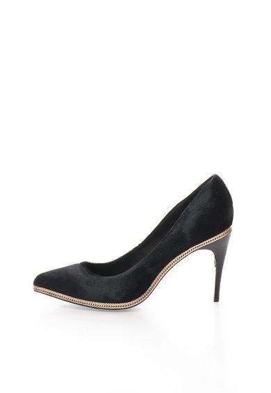 Pantofi negri din piele cu par scurt Alice de la Rachel Zoe