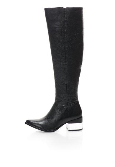 FashionDays.ro: Cizme inalte negre din piele Paulina Rachel Zoe