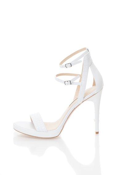Calvin Klein Sandale albe din piele Genevieve