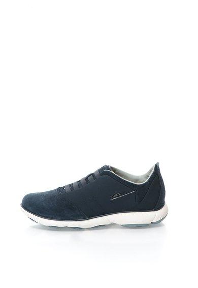 Pantofi sport bleumarin din material textil si piele intoarsa Ne