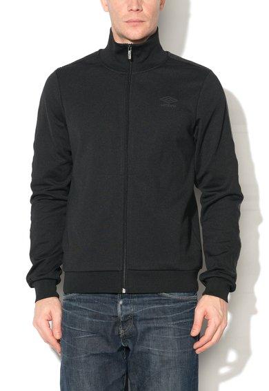 Umbro Bluza sport neagra cu fermoar si logo