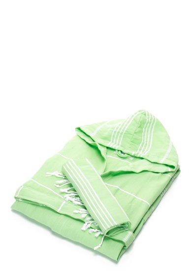 Set de halat de baie si prosop verde jad Sultan