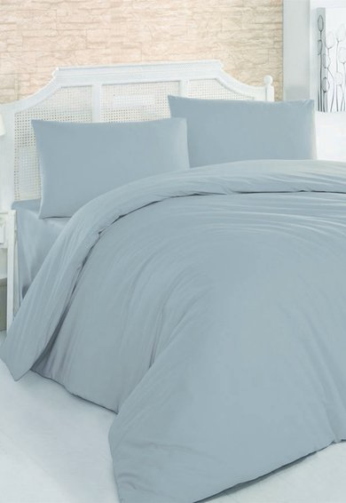 Leunelle Set de pat gri din material ranforce