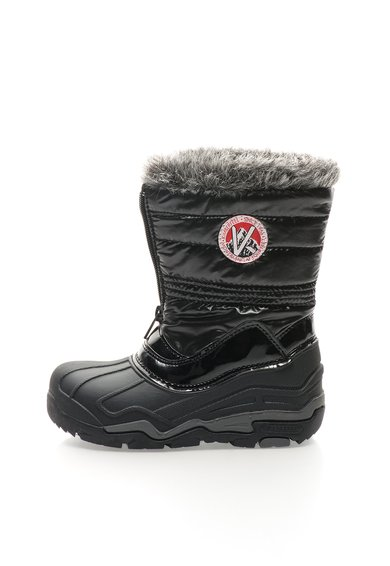 FashionDays.ro: Cizme negre captusite cu garnitura din blana sintetica Lilou Kimberfeel
