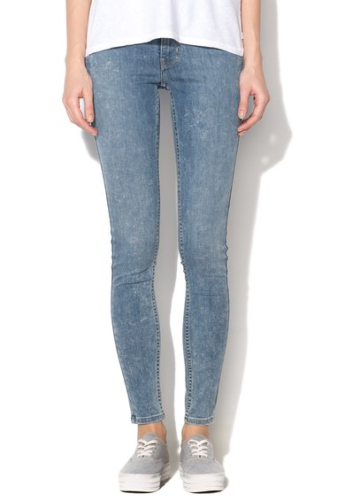 Jeansi albastru deschis super skinny 710