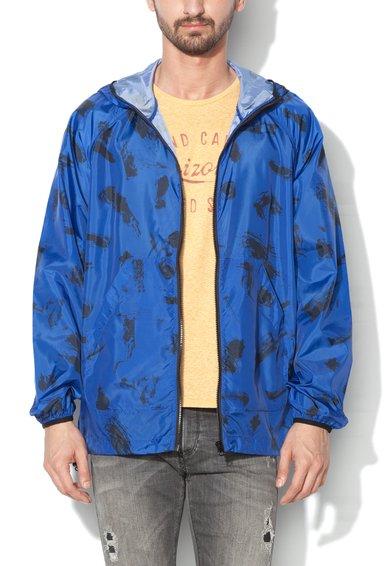 Jacheta albastra usoara cu imprimeu
