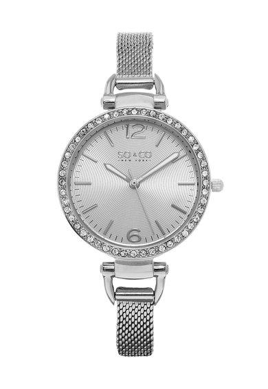Ceas argintiu cu cristale SoHo