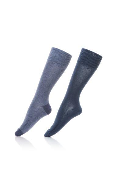 Set de sosete lungi in nuante de albastru – 2 perechi de la Levi`s