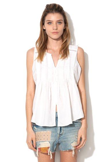 FashionDays.ro: Top alb cu striatii Levis