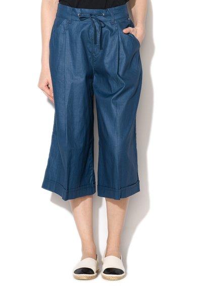 Pepe Jeans London Fusta-pantalon albastra cu snur pentru ajustare Jane