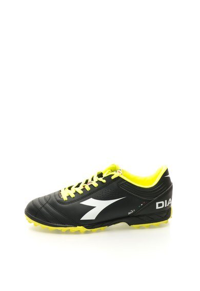 Diadora Pantofi pentru fotbal negru cu galben neon ITA 3