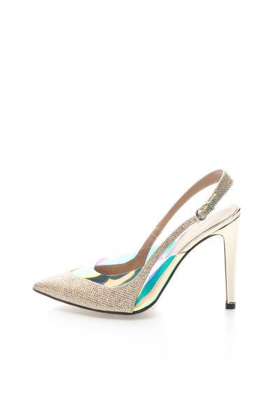 FashionDays.ro: Pantofi slingback multicolori cu particule stralucitoare Roberto Botella