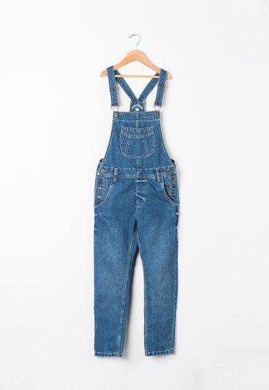 Salopeta albastra din denim Dango de la Pepe Jeans London