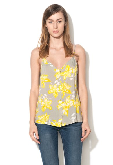 Top multicolor cu model floral si nasturi de la United Colors Of Benetton