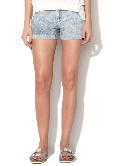 FashionDays.ro: Pantaloni scurti bleu din denim cu dungi din denim Ricenzo Silvian Heach Denim
