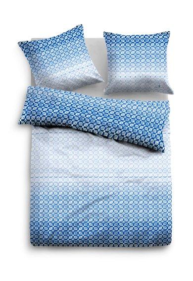 Tom Tailor Set de pat alb cu albastru cu model grafic
