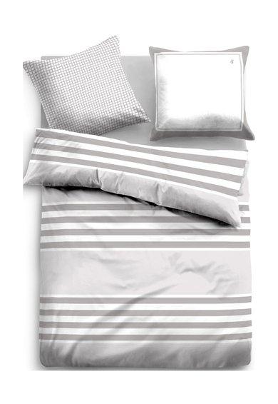 Tom Tailor Set de pat alb cu gri