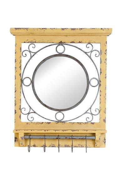 FashionDays.ro: Oglinda rotunda cu rama maro camel Clayre  Eef