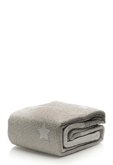 Cuvertura alb cu gri texturata de la Clayre  Eef