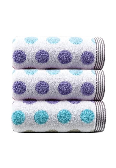 Set de prosoape albe Dots – 3 piese de la Sorema