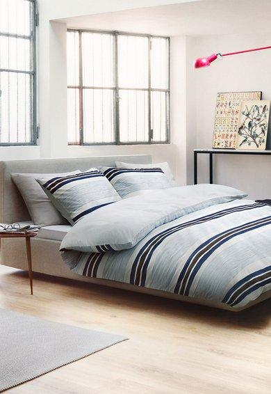 Marc OPolo Set de pat alb cu dungi Malmo