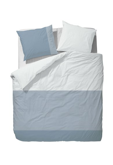 Marc OPolo Set albastru de pat cu model in dungi Finnia
