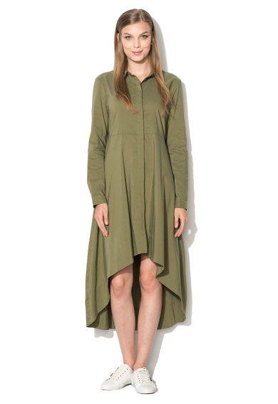 FashionDays.ro: Rochie tip camsa verde oliv asimetrica Mexx