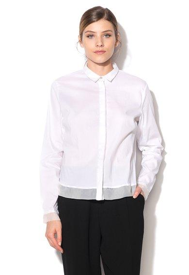 FashionDays.ro: Camasa alba cu garnituri din sifon Jamye GAS