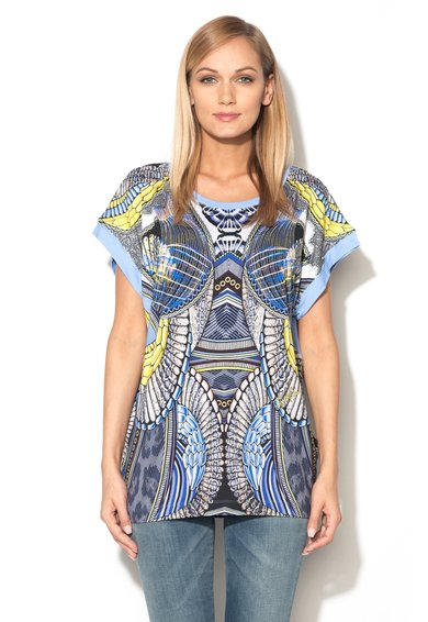 FashionDays.ro: Bluza multicolora cu imprimeuri diverse Just Cavalli