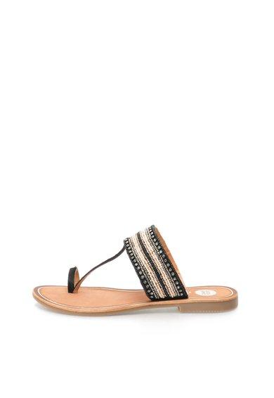 Papuci negru cu roz pal Agreable de la Gioseppo
